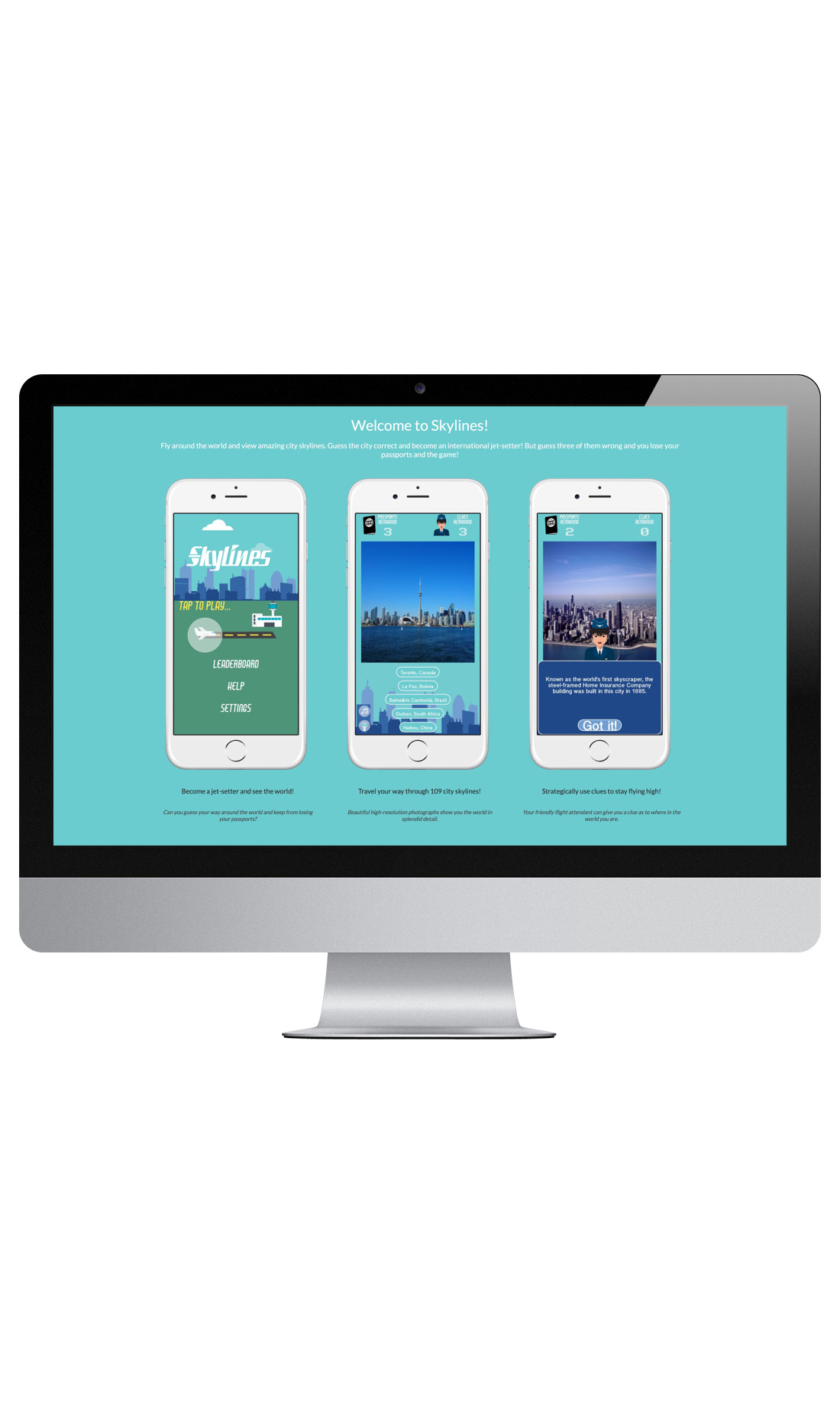 Rich, beautiful colors and a strong theme come together to cast the Skylines app in a most positive light.